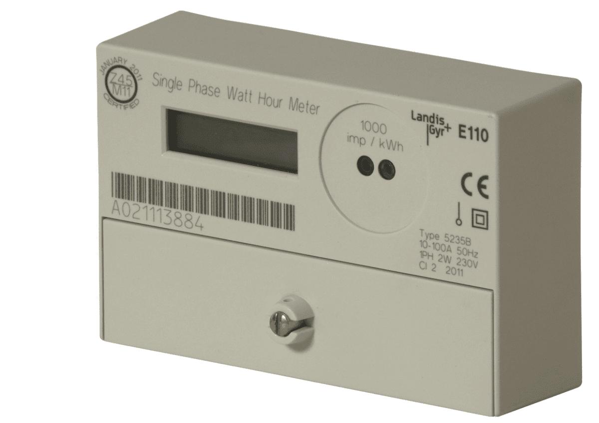 Single Phase Electric Meter : Landis gyr single phase total generation meter a